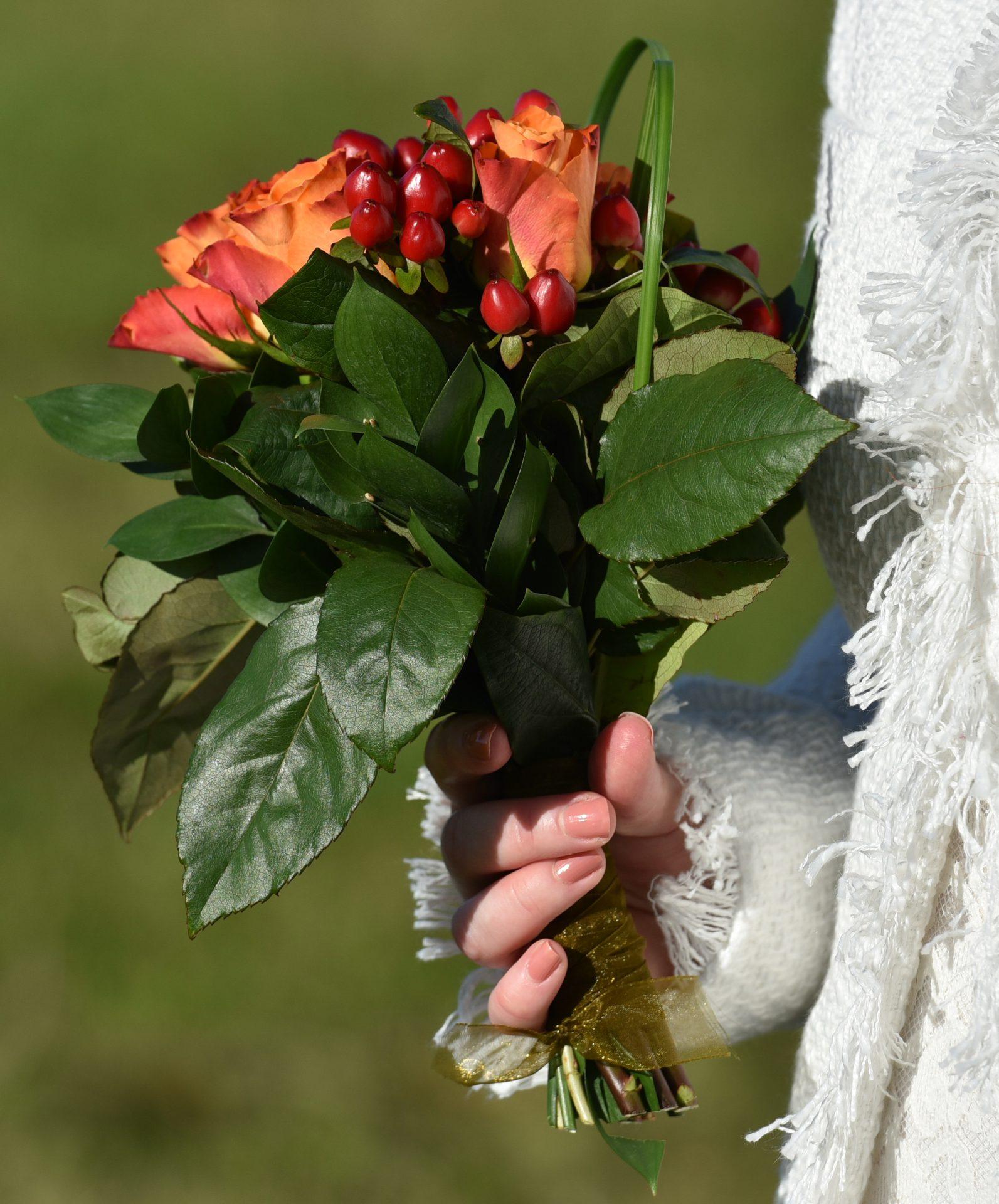 Brudens blomsterbukett!